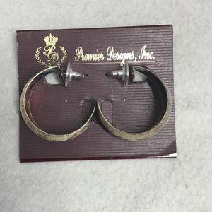 """Premier Designs """"Silver Bouquet"""" Hoop Earrings"""